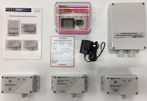 4000-Series-CO2 Carbon Dioxide O2 Oxygen Gas Detector Sensor Kit